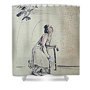 A Lonely Thought Shower Curtain