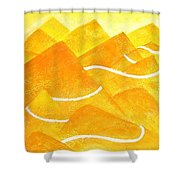 A Lonely Trail Shower Curtain