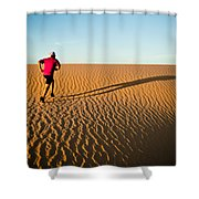 A Long Desert Run Shower Curtain