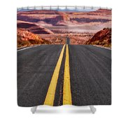 A Long Journey Shower Curtain by Rick Furmanek