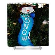 A Long Snow Ornament- Vertical Shower Curtain
