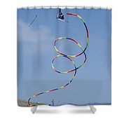 A Long-tailed Kite Soars Shower Curtain