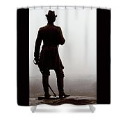 A Look Over Little Round Top Shower Curtain
