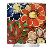 A  Trio Of Flowers Shower Curtain