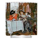 A Luncheon Shower Curtain by Tissot