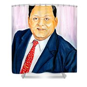 A M Naik Portrait Shower Curtain