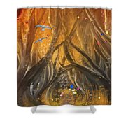A Magical Dream In A Forest Shower Curtain