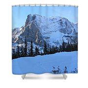 A Majestic Winter View Shower Curtain