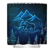 A Mammoth Journey Shower Curtain