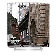 A Man And A Bridge Shower Curtain
