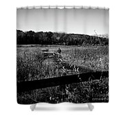 A Man And His Dog - Square Shower Curtain