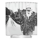 A Man And His Farm Shower Curtain