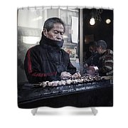 A Man And His Grill Shower Curtain