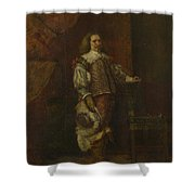 A Man In   Th Century Spanish Costume Shower Curtain