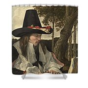A Man Reading, Anonymous, C. 1660 Shower Curtain