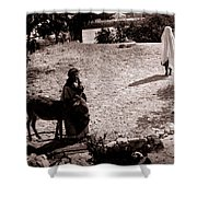 A Man With His Bride 1900s Shower Curtain
