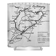 A Map Of The Nurburgring Circuit Shower Curtain