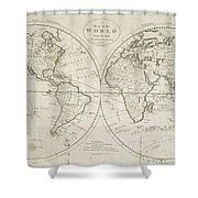 A Map Of The World From The Best Authorities Shower Curtain