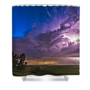 A Massive Thunderstorm Lit Internally Shower Curtain