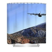 A Mc-130j Combat Shadow II Aircraft Shower Curtain