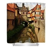 A Medieval Village In Germany Shower Curtain