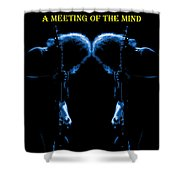 A Meeting Of The Blue Mind Shower Curtain