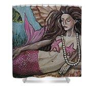A Mermaid Named Pearl Shower Curtain