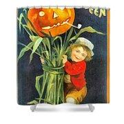 A Merry Halloween Shower Curtain