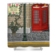 A Merry Old Corner In London Shower Curtain