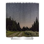 A Meteor And The Big Dipper Shower Curtain