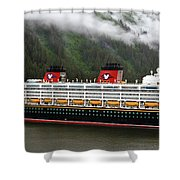 A Mickey Mouse Cruise Ship Shower Curtain