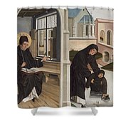 A Miracle Of Saint Benedict Shower Curtain