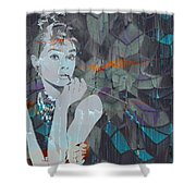 A Modern Breakfast Girl Shower Curtain