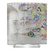 A Modern Drug Shower Curtain