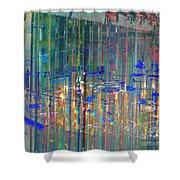 A Modern Meeting Place Shower Curtain