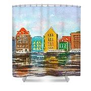 A Modern Take On Curacao Shower Curtain