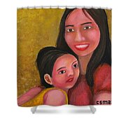 A Moment With Mom Shower Curtain