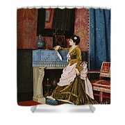 A Moments Reflection Shower Curtain