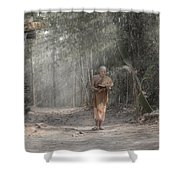 A Monk Reading Shower Curtain