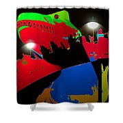 A Monstrously Fun Ride Shower Curtain