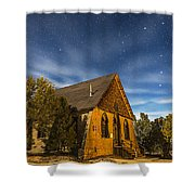 A Moonlit Nightscape Of The Historic Shower Curtain