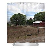 A Mormon Barn Shower Curtain