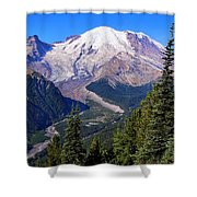 A Morning View Shower Curtain
