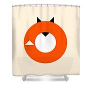 A Most Minimalist Fox Shower Curtain