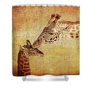 A Mother's Kiss Painted 2 Shower Curtain