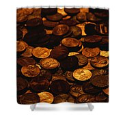 A Mound Of Pennies Shower Curtain