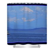 A Mountain, A Boat, A Whale Shower Curtain