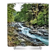 A Mountain River 2 Shower Curtain