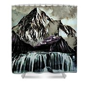 A Mountain To Think About Shower Curtain