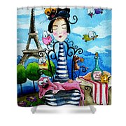 A Moveable Feast Shower Curtain